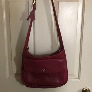 Coach leather shoulder purse